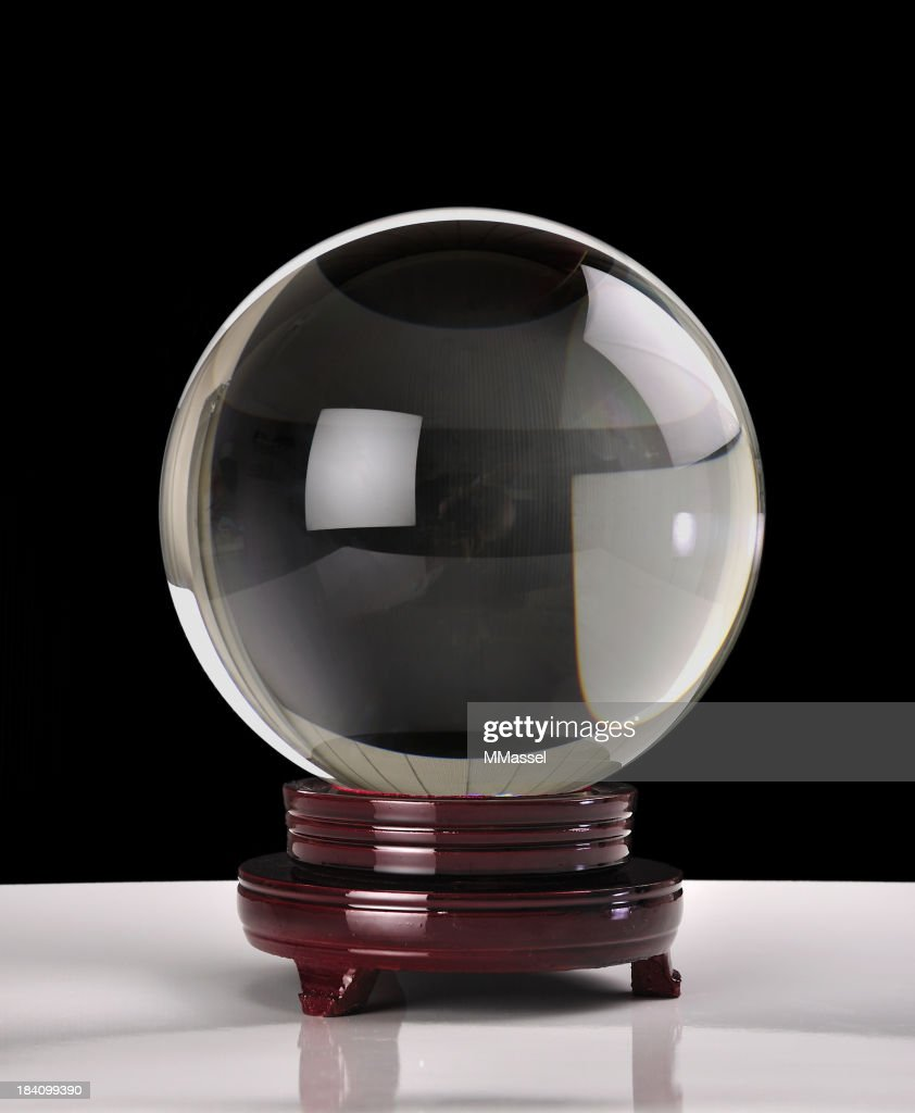 Crystal ball on black