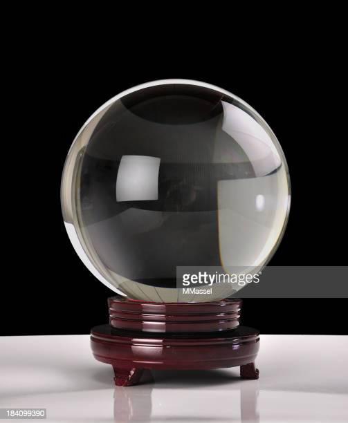 Crystal ball auf Schwarz