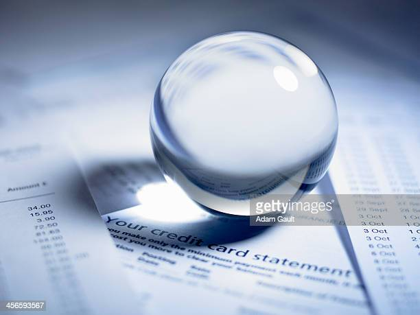 Crystal ball on credit card statement