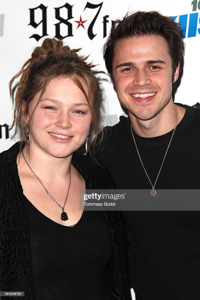 <a gi-track='captionPersonalityLinkClicked' href=/galleries/search?phrase=Crystal+Bowersox&family=editorial&specificpeople=6749337 ng-click='$event.stopPropagation()'>Crystal Bowersox</a> (L) and Kris Allen attend the 102.7 KIIS FM and Star 98.7 host 5th annual celebrity and artist lounge celebrating the 55th annual GRAMMYS at ESPN Zone At L.A. Live on February 8, 2013 in Los Angeles, California.