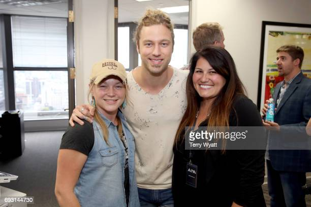 Crystal Bowersox Casey James and Kerri FoxMetoyer attends APA Nashville's open house at One Nashville Place on June 6 2017 in Nashville Tennessee