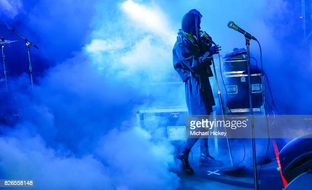 Crystal Castles performs at Grant Park on August 4 2017 in Chicago Illinois