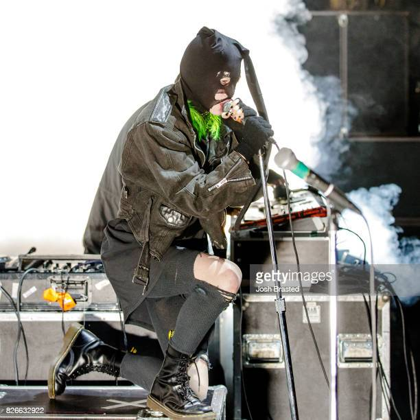 Crystal Castles performs at Lollapalooza 2017 at Grant Park on August 4 2017 in Chicago Illinois