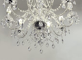 crystal chandelier with bright copy space