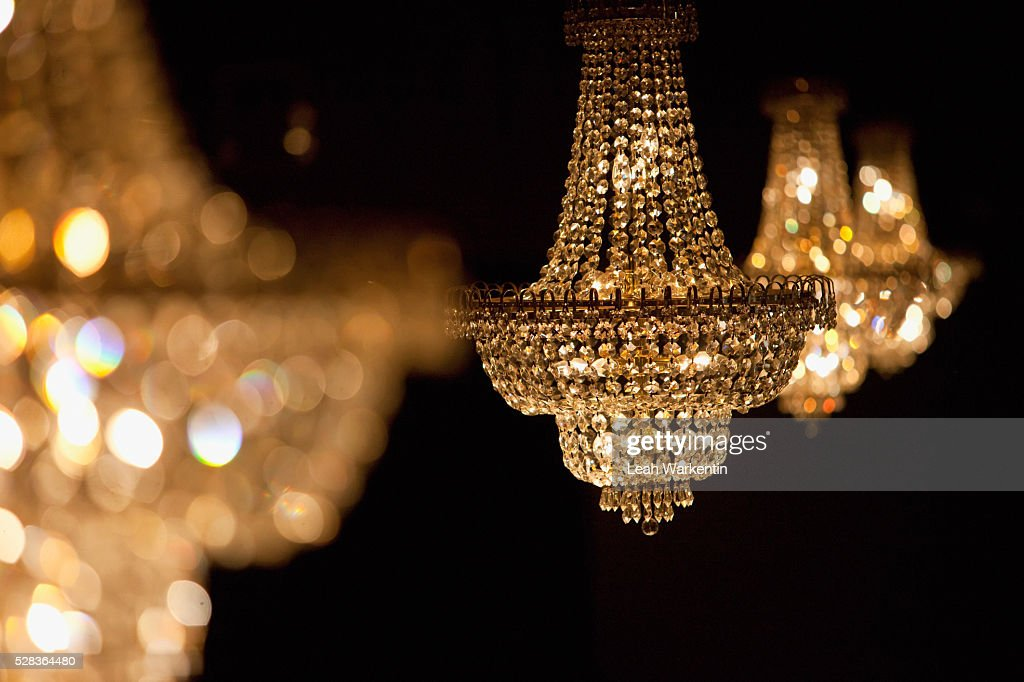 Crystal Chandeliers Edmonton Alberta Canada Stock Photo Getty Images