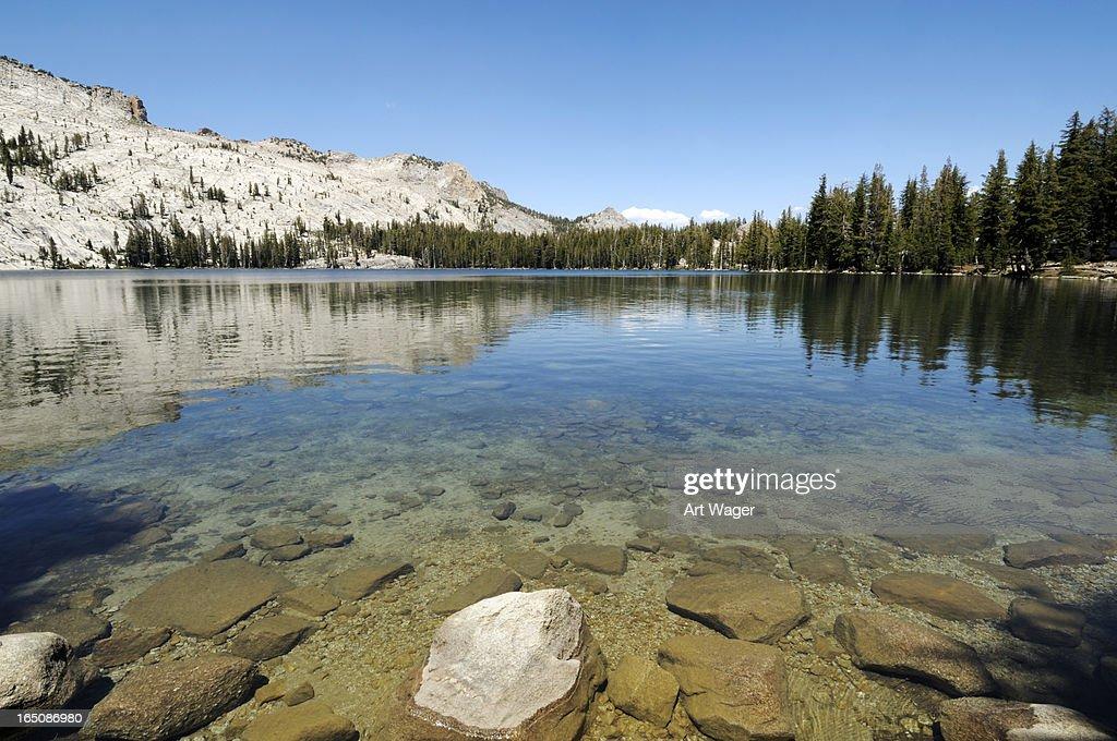 Crystal Clear Mountain Lake : Stock Photo