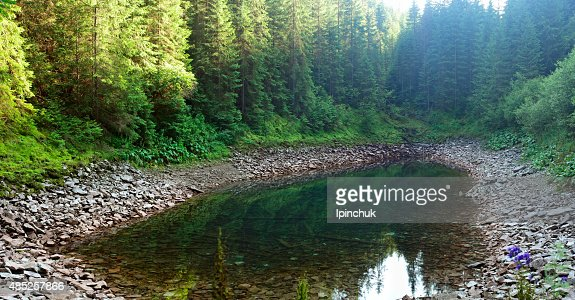 Crystal clear mountain lake : Stock Photo