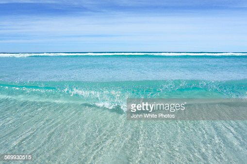 Crystal clear seawater at Sleaford Bay. Australia.
