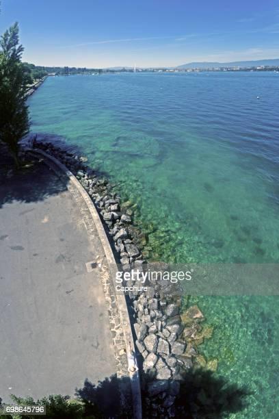 Crystal Clear waters of Lake Geneva, Switzerland