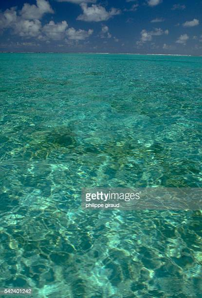 Crystal clear waters off the coast of French Polynesian islands Wallis and Futuna