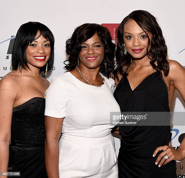 Crystal Colar guest and actress Tyra Colar attend the Eighth Annual GRAMMY week event honoring threetime GRAMMY Winner Nile Rodgers hosted by the The...