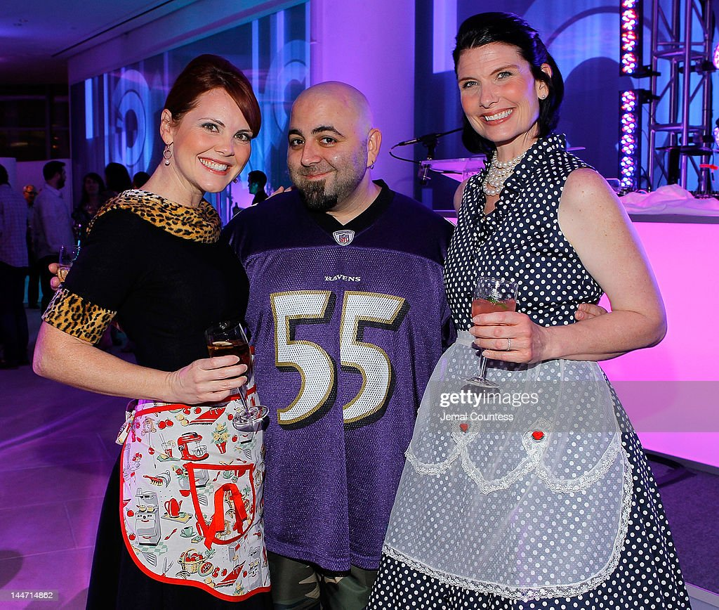 Crystal Cook of the Casserole Queens, Chef Duff Goldman and Sandy Pollock of the Casserole Queens at the IAC & Aereo IWNY HQ Closing Party on May 17, 2012 in New York City.