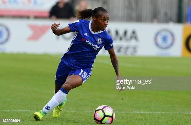 Crystal Dunn of Chelsea during the FA WSL 1 match between Chelsea Ladies and Yeovil Town Ladies at Wheatsheaf Park on April 30 2017 in Staines England