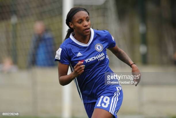 Crystal Dunn of Chelsea looks on during Chelsea FC Ladies vs Doncaster Rovers Ladies on March 19 2017 in Staines England