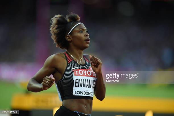 Crystal EMMANUEL Canada during 200 meter heats in London at the 2017 IAAF World Championships athletics v