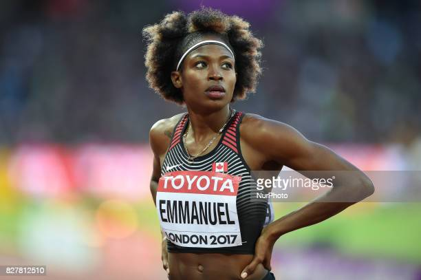 Crystal EMMANUEL Canada during 200 meter heats in London at the 2017 IAAF World Championships athletics on August 8 2017