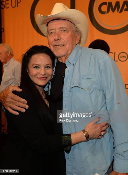 Crystal Gayle and Bobby Bare appear at CMA Close Up Stage 70's Heritage Panel at Music City Convention Center on June 6 2013 in Nashville Tennessee