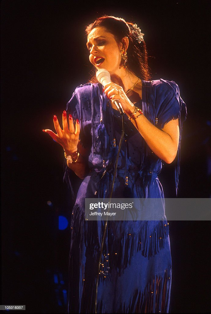 <a gi-track='captionPersonalityLinkClicked' href=/galleries/search?phrase=Crystal+Gayle&family=editorial&specificpeople=1537366 ng-click='$event.stopPropagation()'>Crystal Gayle</a> during <a gi-track='captionPersonalityLinkClicked' href=/galleries/search?phrase=Crystal+Gayle&family=editorial&specificpeople=1537366 ng-click='$event.stopPropagation()'>Crystal Gayle</a> in Concert 1994 at The Rose Bowl in Pasadena, California, United States.