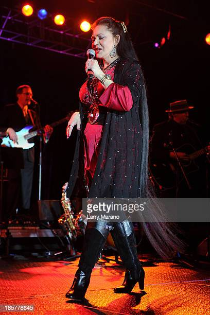 Crystal Gayle performs at Seminole Casino Coconut Creek on April 5 2013 in Coconut Creek Florida