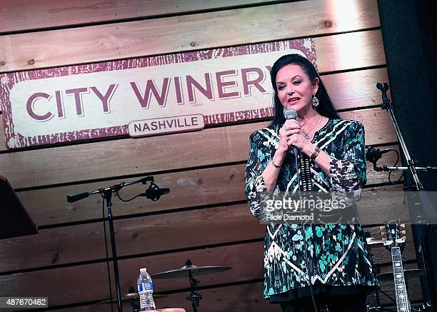 Crystal Gayle performs during A Celebration of Life in Honor of Jeff Walker at City Winery Nashville on September 10 2015 in Nashville Tennessee