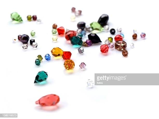 crystal gems swarovski, various colors, soft focus