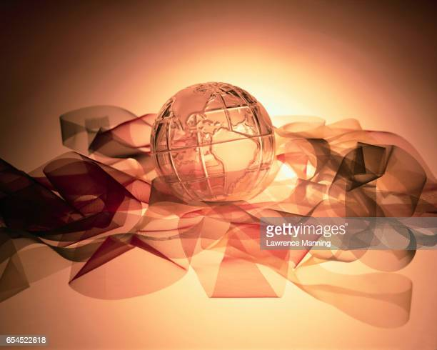 Crystal Globe and Ribbon