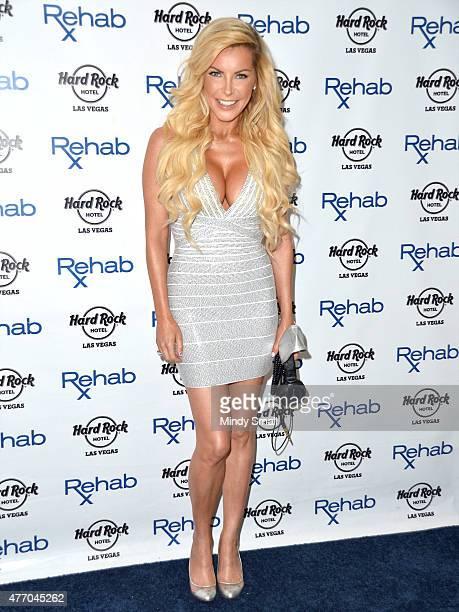 Crystal Hefner arrives at Rehab at the Hard Rock Hotel Casino on June 13 2015 in Las Vegas Nevada