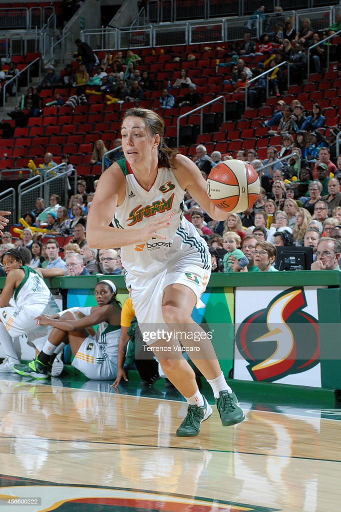 <a gi-track='captionPersonalityLinkClicked' href=/galleries/search?phrase=Crystal+Langhorne&family=editorial&specificpeople=700514 ng-click='$event.stopPropagation()'>Crystal Langhorne</a> #1 of the Seattle Storm drives against the New York Liberty on July 24,2014 at Key Arena in Seattle, Washington.