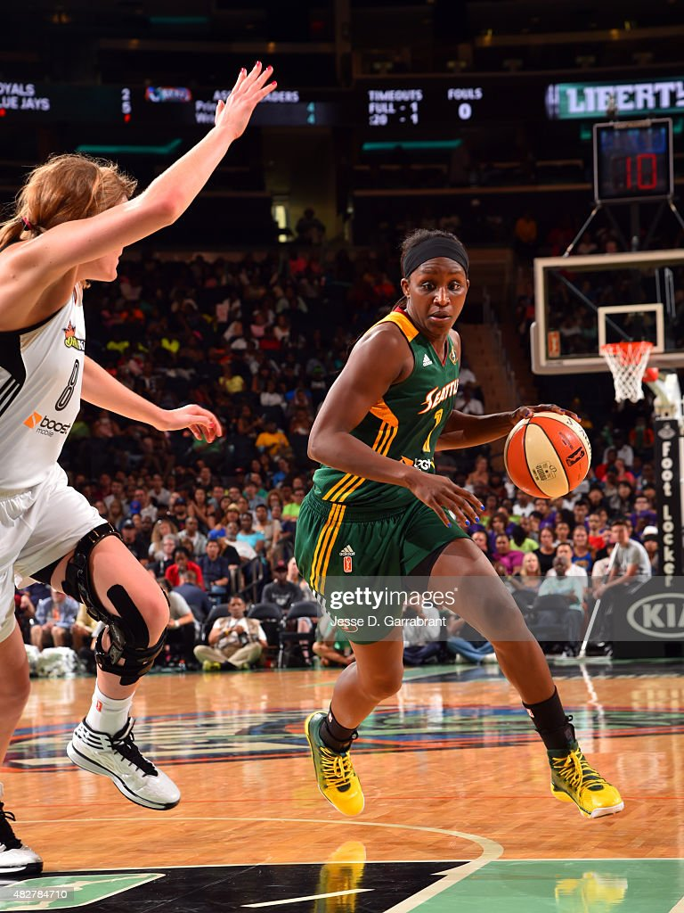 <a gi-track='captionPersonalityLinkClicked' href=/galleries/search?phrase=Crystal+Langhorne&family=editorial&specificpeople=700514 ng-click='$event.stopPropagation()'>Crystal Langhorne</a> #1 of the Seattle Storm handles the ball against the New York Liberty on August 2, 2015 at Madison Square Garden in New York City, NY.