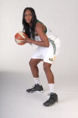 Crystal Langhorne of the Seattle Storm poses for a photo during WNBA Media Day on May 7 2014 at Key Arena in Seattle Washington NOTE TO USER User...