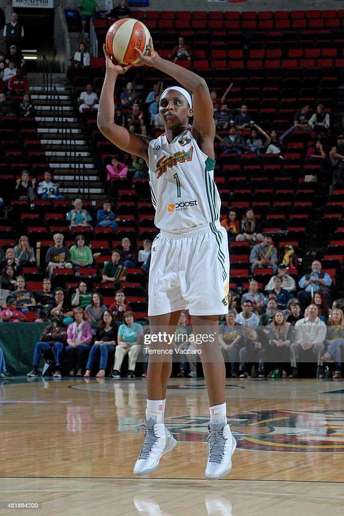 <a gi-track='captionPersonalityLinkClicked' href=/galleries/search?phrase=Crystal+Langhorne&family=editorial&specificpeople=700514 ng-click='$event.stopPropagation()'>Crystal Langhorne</a> #1 of the Seattle Storm shoots against the Minnesota Lynx on June 27, 2014 at Key Arena in Seattle, Washington.
