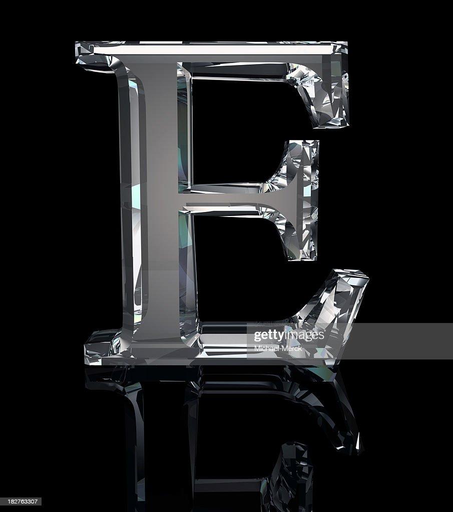 Crystal Letter E