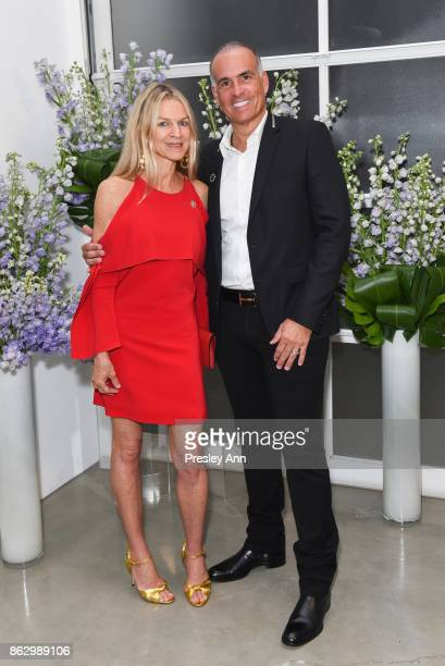 Crystal Lourd and Mark Lash attend VIP Conversation for Women's Brain Health Initiative Hosted by Sharon Stone at Gagosian Gallery on October 18 2017...