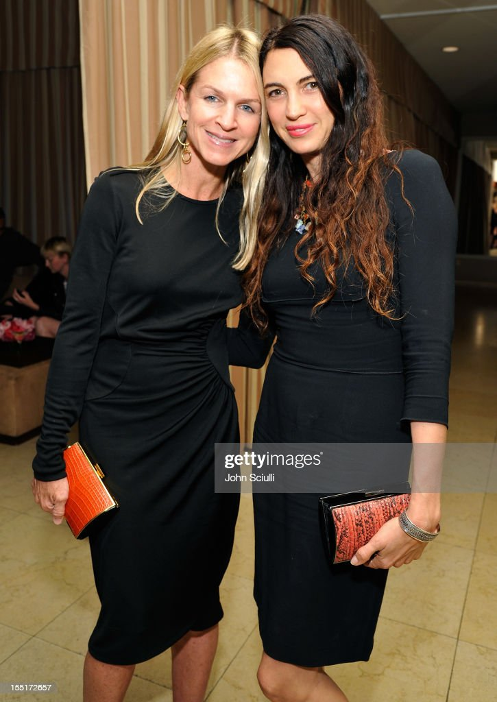 Crystal Lourd and Shiva Rose attend a dinner hosted by Ali Larter celebrating the Devi Kroell Spring Summer 2013 Collection at Sunset Tower on November 1, 2012 in West Hollywood, California.
