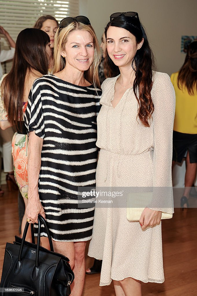 Crystal Lourd and Shiva Rose attend HEART/Stella McCartney Brunch on March 13, 2013 in Beverly Hills, California.