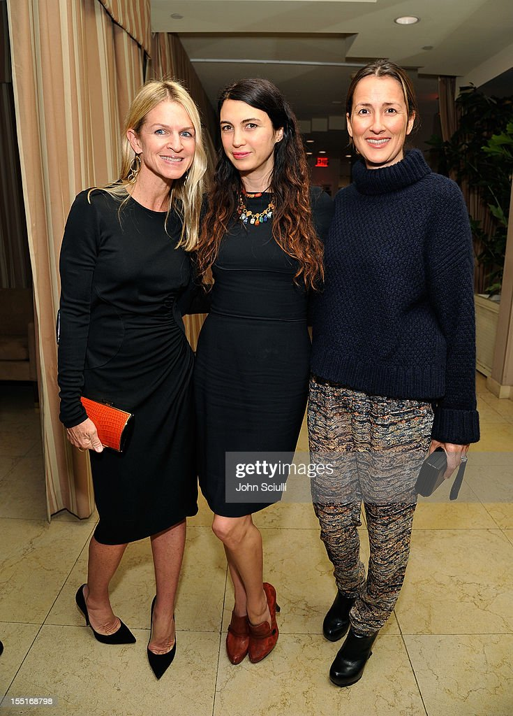 Crystal Lourd, Shiva Rose and Anna Getty attend a dinner hosted by Ali Larter celebrating the Devi Kroell Spring Summer 2013 Collection at Sunset Tower on November 1, 2012 in West Hollywood, California.