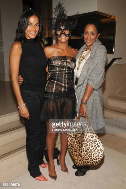 Crystal McCrary Anthony Erica Reid and Malaak ComptonRock attend ERICA REID Hosts the VALENTINO Fall/Winter 200910 Haute Couture Preview at Valentino...