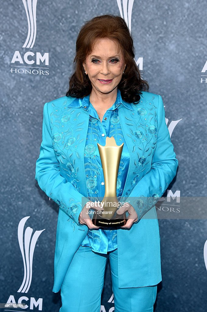 Crystal Milestone Award recipient Loretta Lynn attends the 9th Annual ACM Honors at the Ryman Auditorium on September 1 2015 in Nashville Tennessee