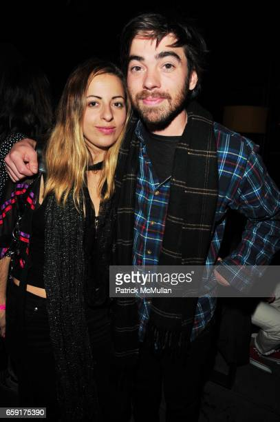 Crystal Moselle and guest attend Cory Kennedy Birthday Celebration at Thompson Hotel Lower East Side on February 21 2009 in New York City