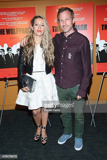Crystal Moselle and Spike Jonze attend 'The Wolfpack' New York Premiere at Sunshine Landmark on June 9 2015 in New York City