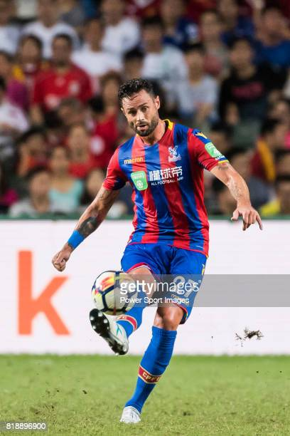 Crystal Palace defender Damien Delaney in action during the Premier League Asia Trophy match between Liverpool FC and Crystal Palace FC at Hong Kong...