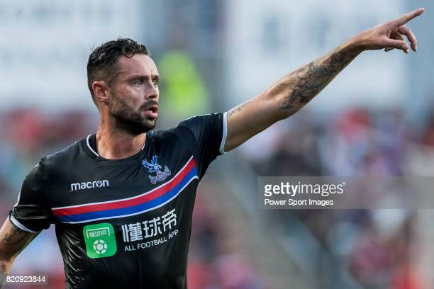 Crystal Palace defender Damien Delaney reacts during the Premier League Asia Trophy match between West Bromwich Albion and Crystal Palace at Hong...