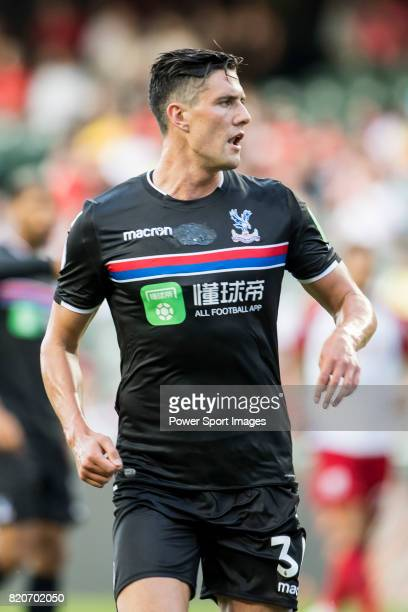 Crystal Palace defender Martin Kelly looks on during the Premier League Asia Trophy match between West Bromwich Albion and Crystal Palace at Hong...