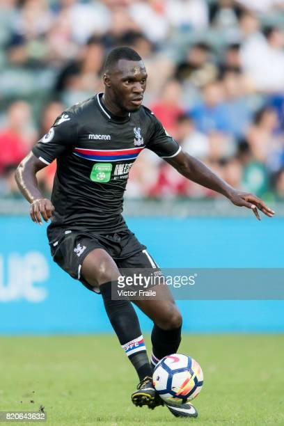 Crystal Palace forward Christian Benteke in action during the Premier League Asia Trophy match between West Brom and Crystal Palace at Hong Kong...