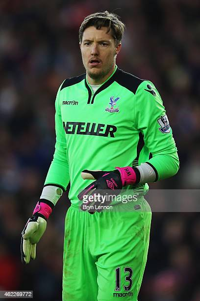 Crystal Palace goalkeeper Wayne Hennessey looks on during the FA Cup Fourth Round match between Southampton and Crystal Palace at St Mary's Stadium...