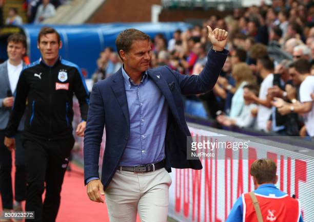 Crystal Palace manager Frank de Boer during Premier League match between Crystal Palace and Huddersfield Town at Selhurst Park Stadium London England...
