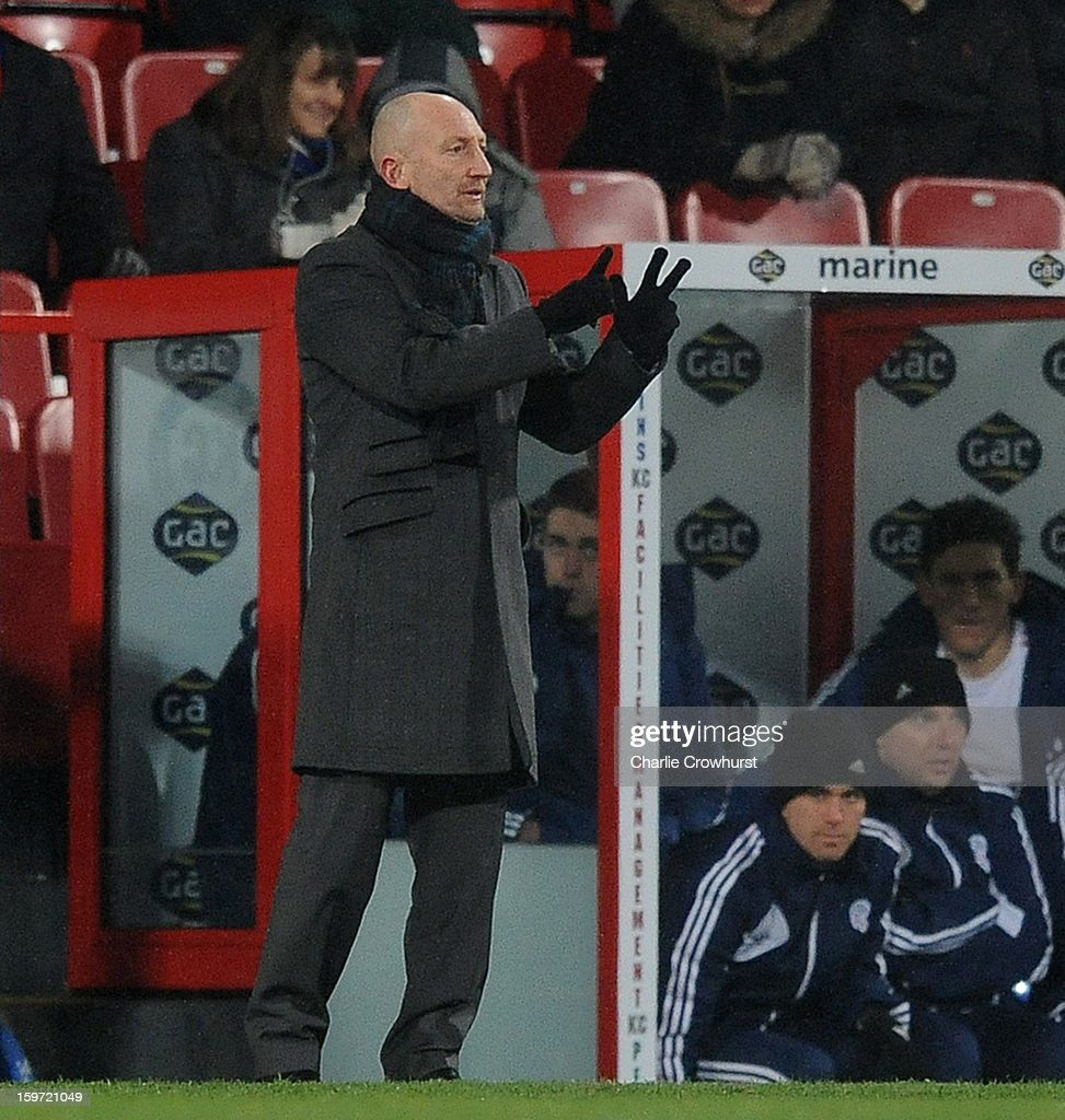 Crystal Palace manager <a gi-track='captionPersonalityLinkClicked' href=/galleries/search?phrase=Ian+Holloway&family=editorial&specificpeople=235580 ng-click='$event.stopPropagation()'>Ian Holloway</a> gives orders to the team during the npower Championship match between Crystal Palace and Bolton at Selhurst Park on January 19, 2013 in London England.