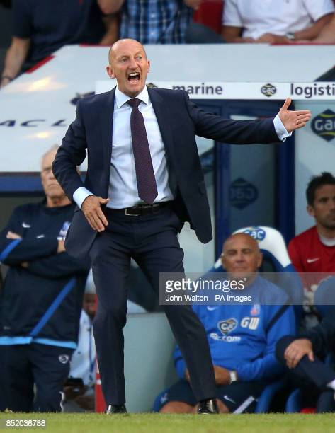 Crystal Palace manager Ian Holloway on the touchline