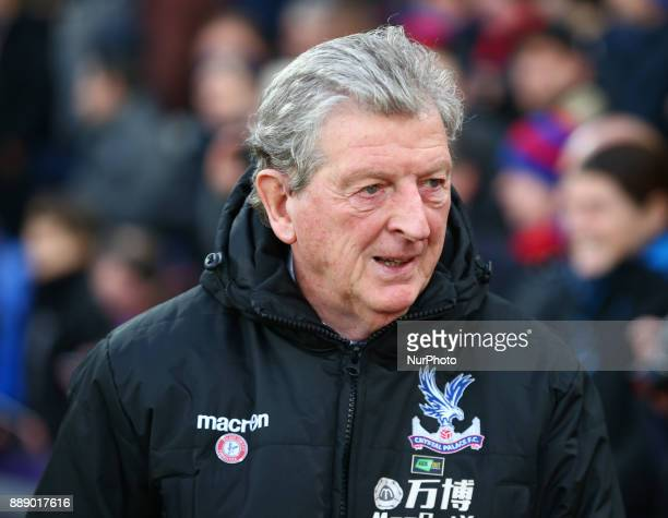 Crystal Palace manager Roy Hodgson during Premier League match between Crystal Palace and AFC Bournemouth at Selhurst Park Stadium London England 09...