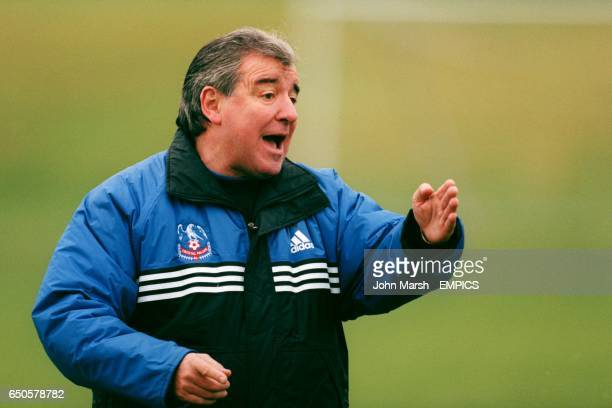 Crystal Palace manager Terry Venables directing training